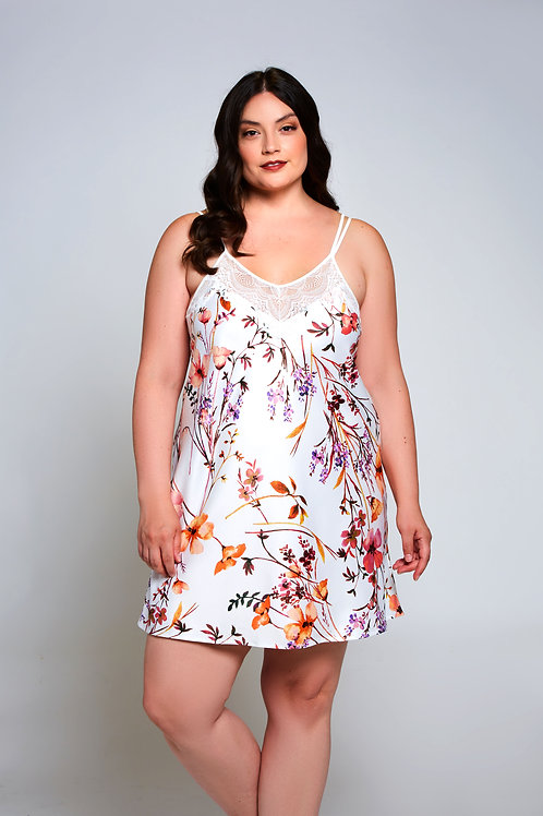 ICOLLECTION | Lucia Floral Chemise Plus Size
