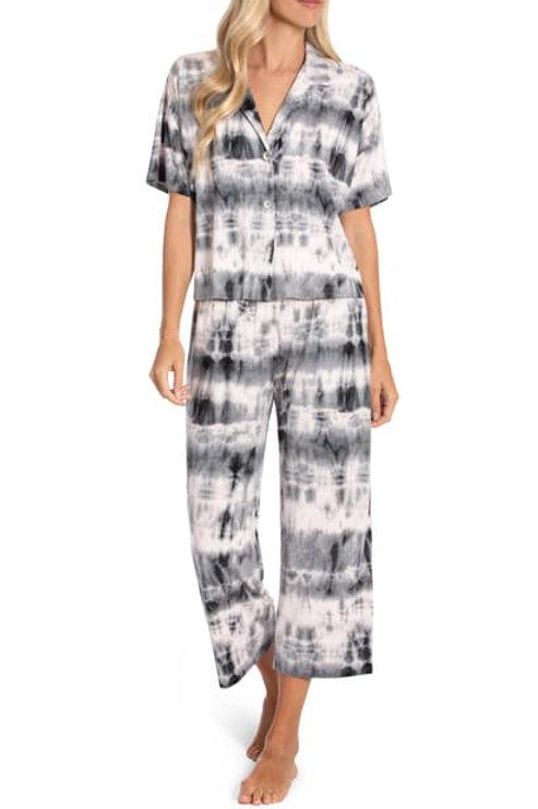 MIDNIGHT BAKERY | Margot Crop Pant Pj Tie Dye Pink & Gray