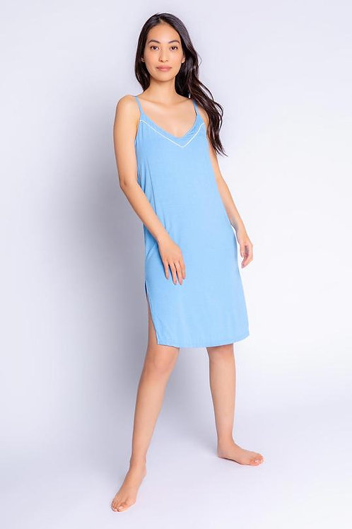 PJ SALVAGE | Tropical Modal Dress Blue