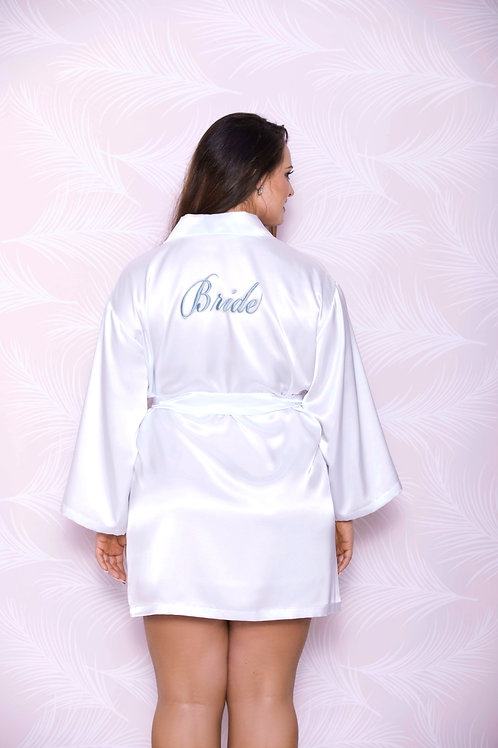 ICOLLECTION | Bride Embroidery Satin Robe