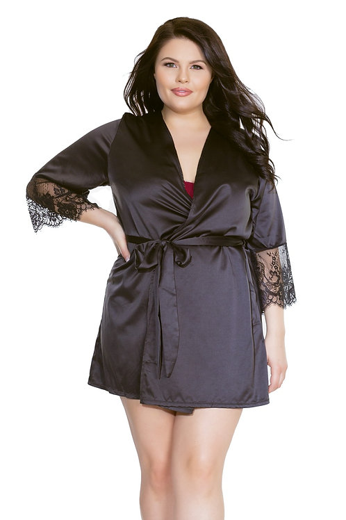COQUETTE | Satin & Lace Robe OS/XL