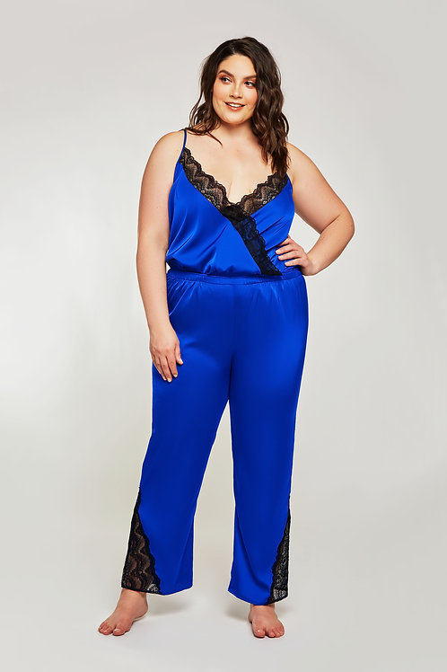 ICOLLECTION | Satin & Lace Jumpsuit