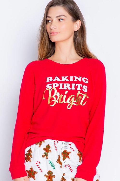 PJ SALVAGE | Baking Spirit LS Top