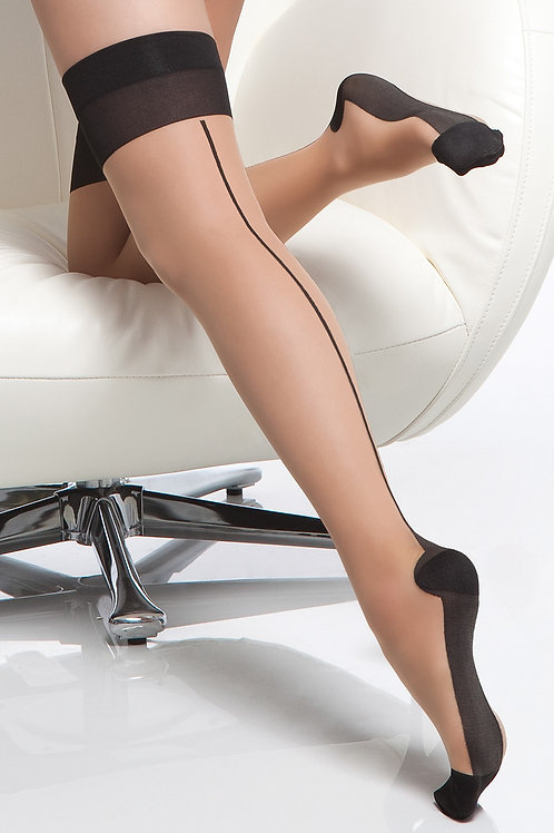 COQUETTE | Sheer Contrast Stockings