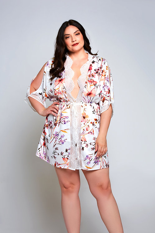 ICOLLECTION | Lucia Floral Wrap Plus Size