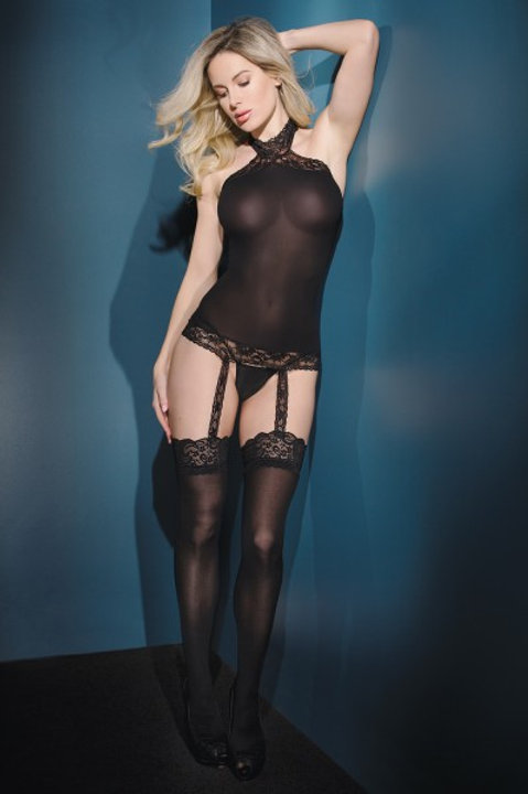 COQUETTE   Halter Top with Stockings