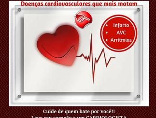 Quais as doenças cardiovasculares que mais matam?