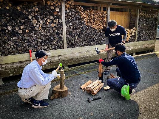 奥八女焚火の森キャンプフィールド木育ワークショップ