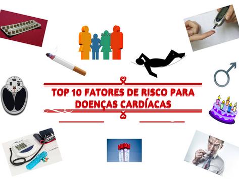 Top 10 fatores de risco para doenças cardíacas