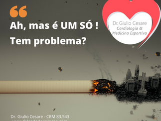 Mas um cigarrinho só, faz mal?