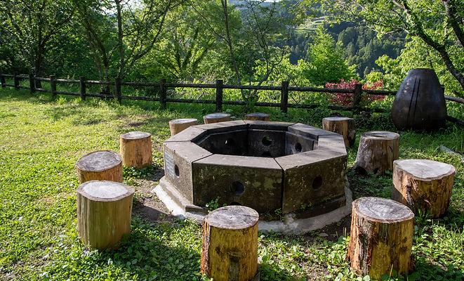奥八女焚火の森キャンプフィールドBサイトプライベートエリア