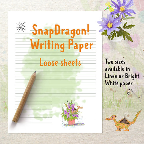 SnapDragon! Writing Paper, loose sheets for journaling and letter writing.