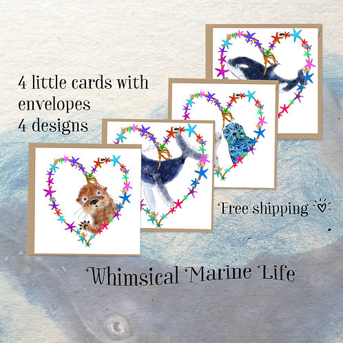 mini art card marine life