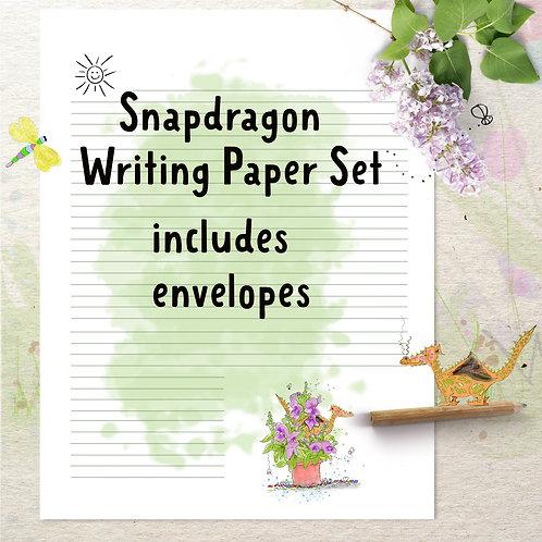 Snapdragon  Writing Paper Set includes envelopes & labels