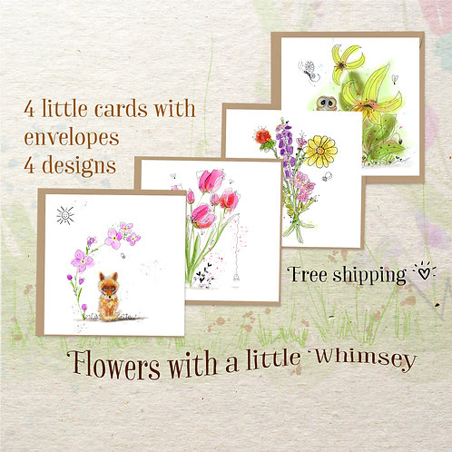 Mini Flower Series -flowers with a little whimsey!