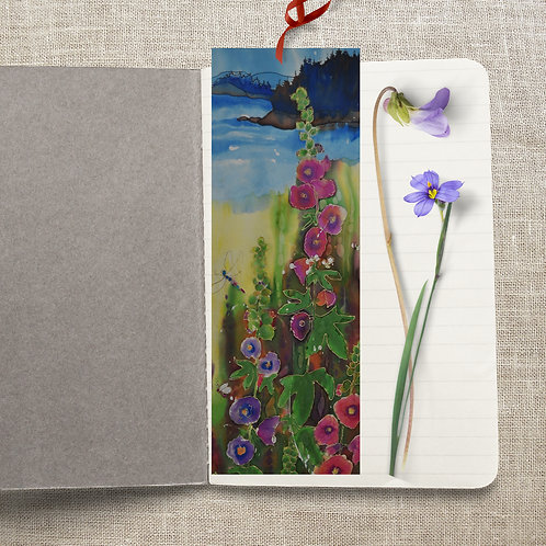 Hollyhocks by the Sea - Bookmark