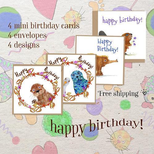 Happy Birthday mini card set - Always be ready!