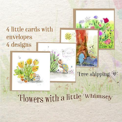 mini art card flower group