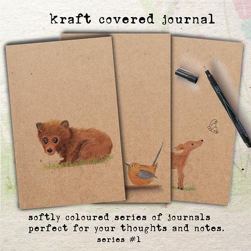 handmade kraft covered notebooks