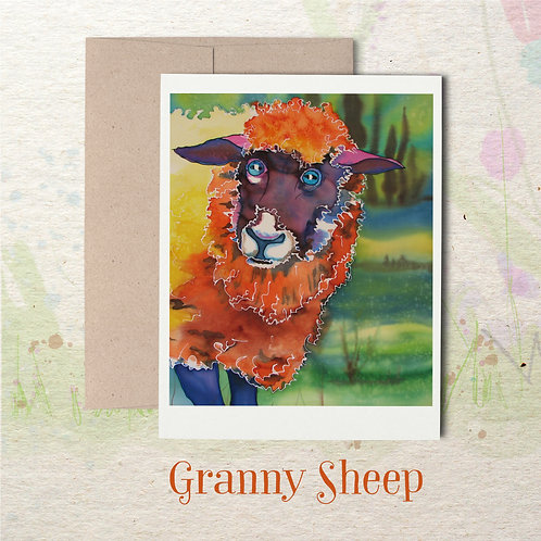 Granny Sheep- Greetings from the farm!