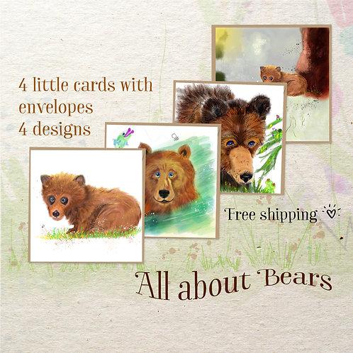 mini art card 4 bears