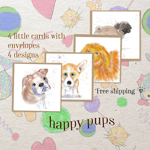 Mini Card Group-Happy pups!