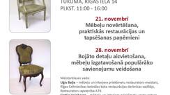 MEISTARKLASES SENO KOKA MĒBEĻU RESTAURĀCIJĀ