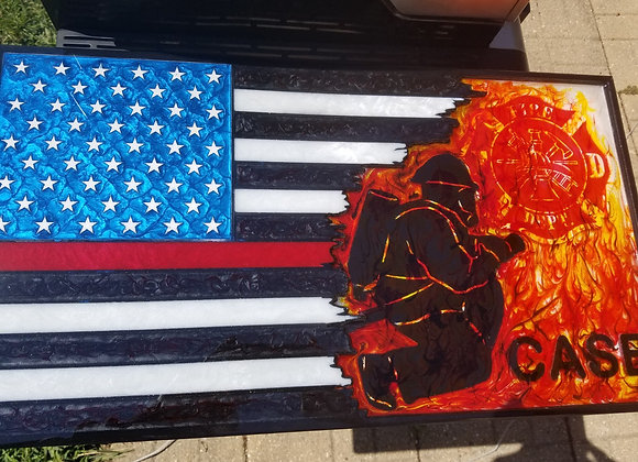 Custom Fireman Flag