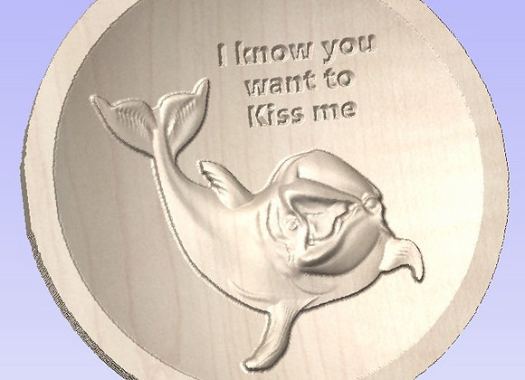 Dolphin Kiss Me Ring Bowl