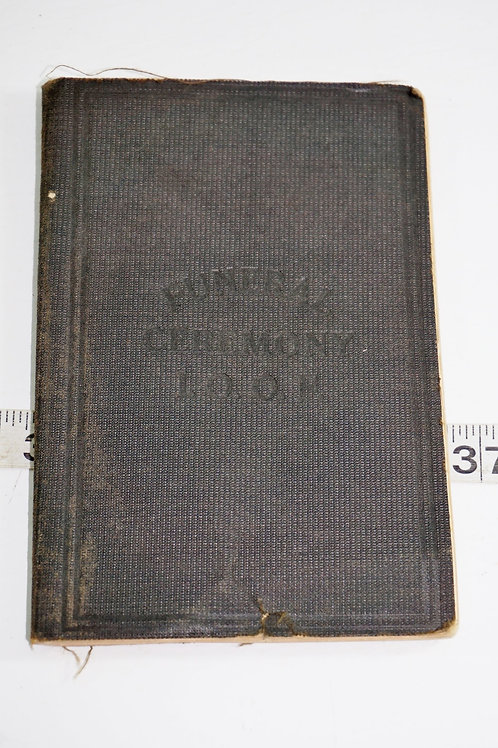 1912 Funeral Ceremony Book