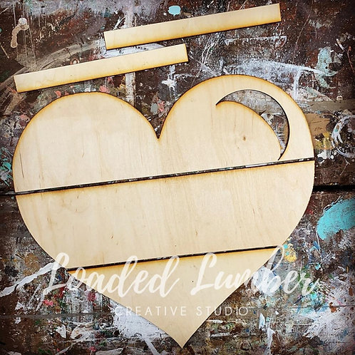 Laser Cut 3D Wood Heart / Ship Lap Heart