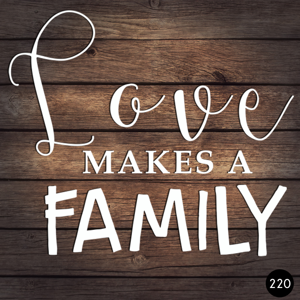 220 LOVE MAKES FAMILY