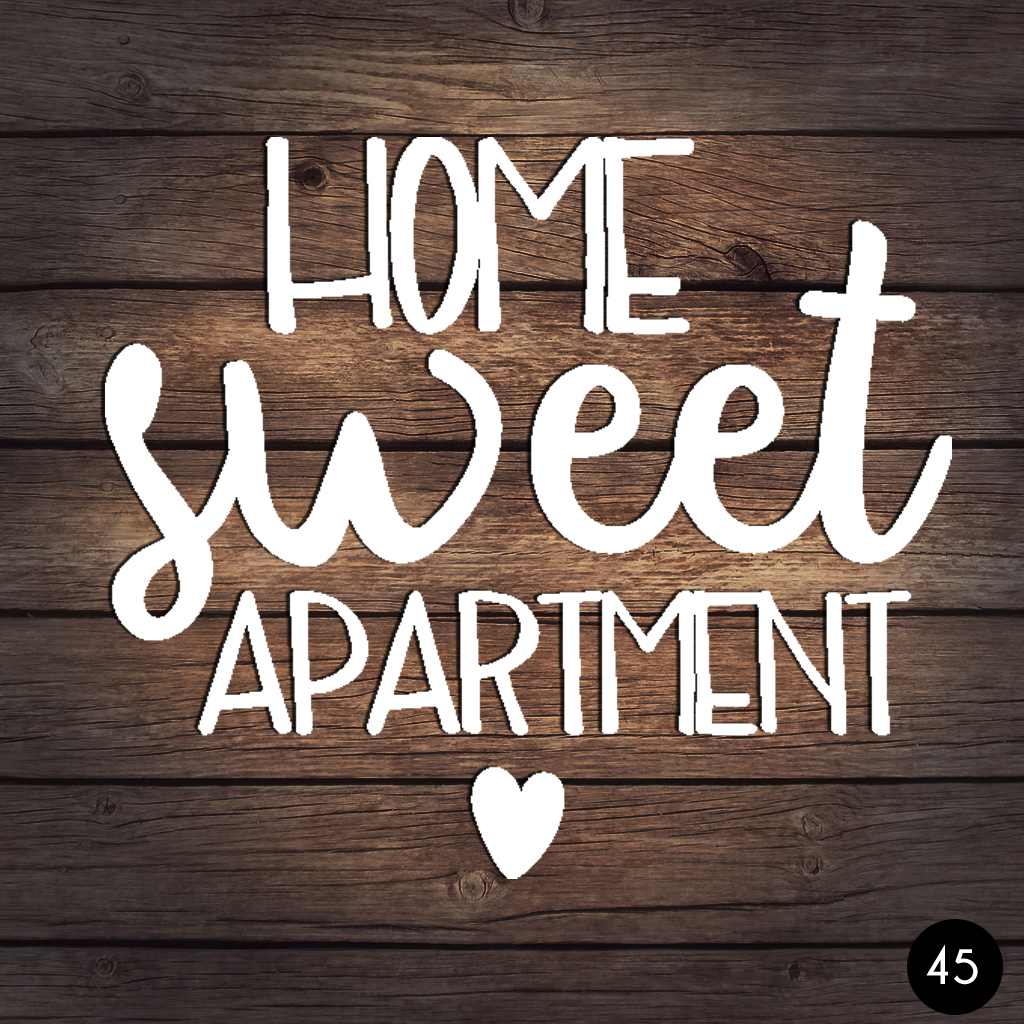45 HOME SWEET APARTMENT