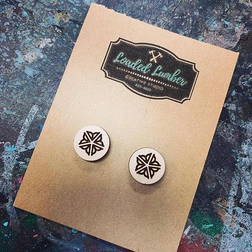Rochester Flower City Wooden Earrings