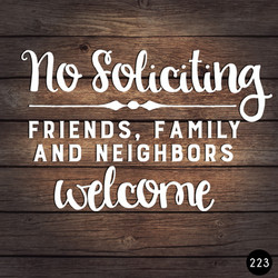 223 NO SOLICITING