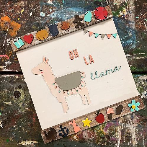 DIY Interchangeable LLama sign