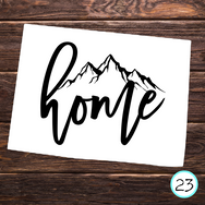 home with mountain