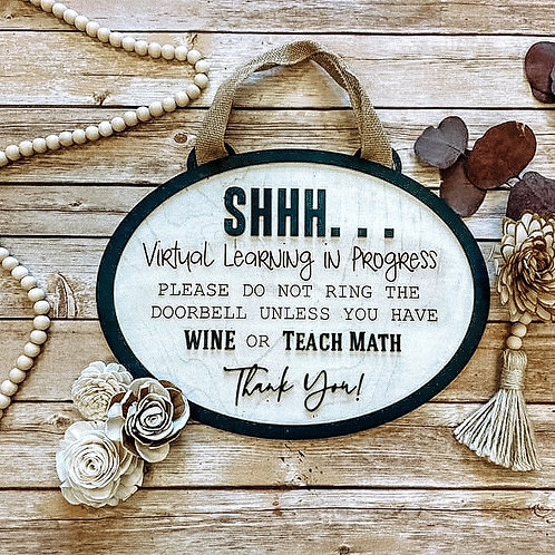 Virtual Learning Door Hanger