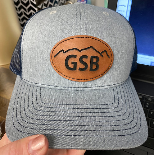 GSB Leather Patch Trucker Hat
