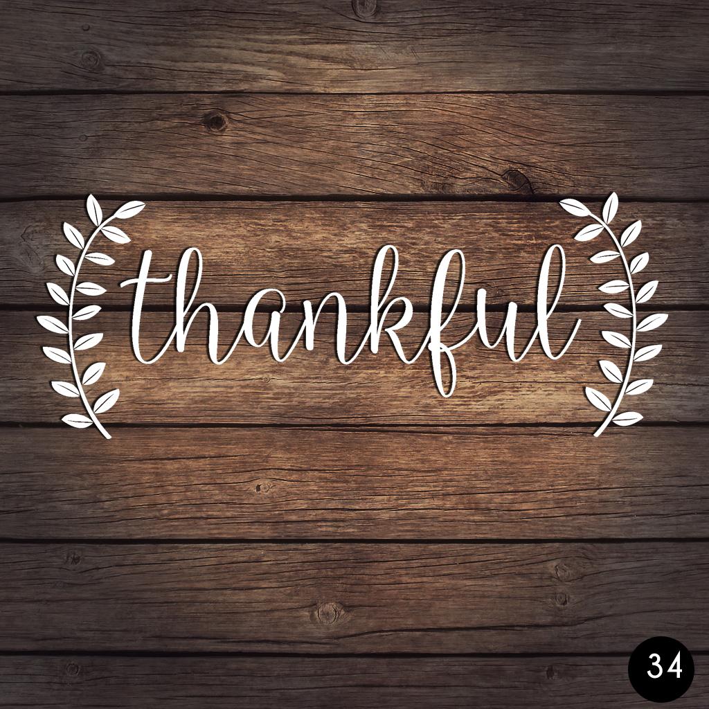 34 THANKFUL