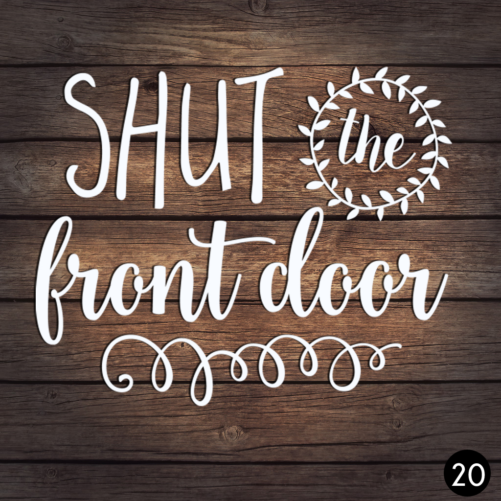20 FRONT DOOR