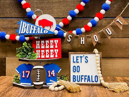 Let's Go Buffalo Tiered Tray