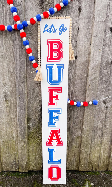 Let's Go Buffalo Porch Sign DIY Kit