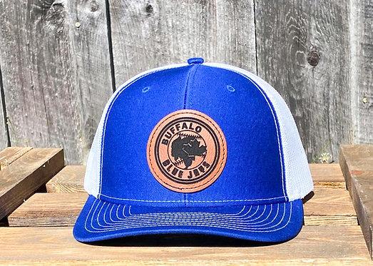 Buffalo Blue Jays Leather Patch Trucker Hat