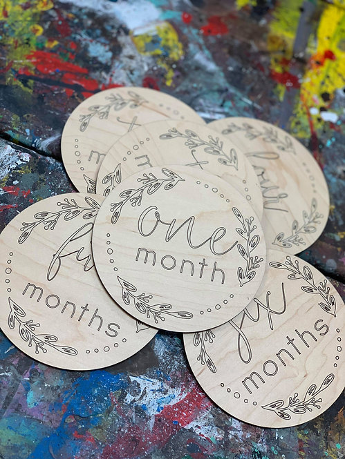 Baby Month Milestone Markers - Circle