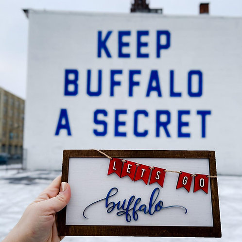 Let's Go Buffalo Banner Sign DIY Kit