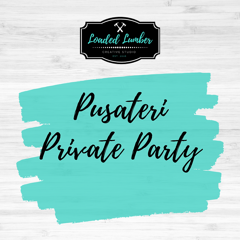 Pusateri Private Party- August 20th 6-9pm