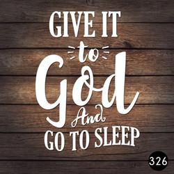 326 GIVE GOD