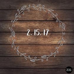 231 WREATH DATE