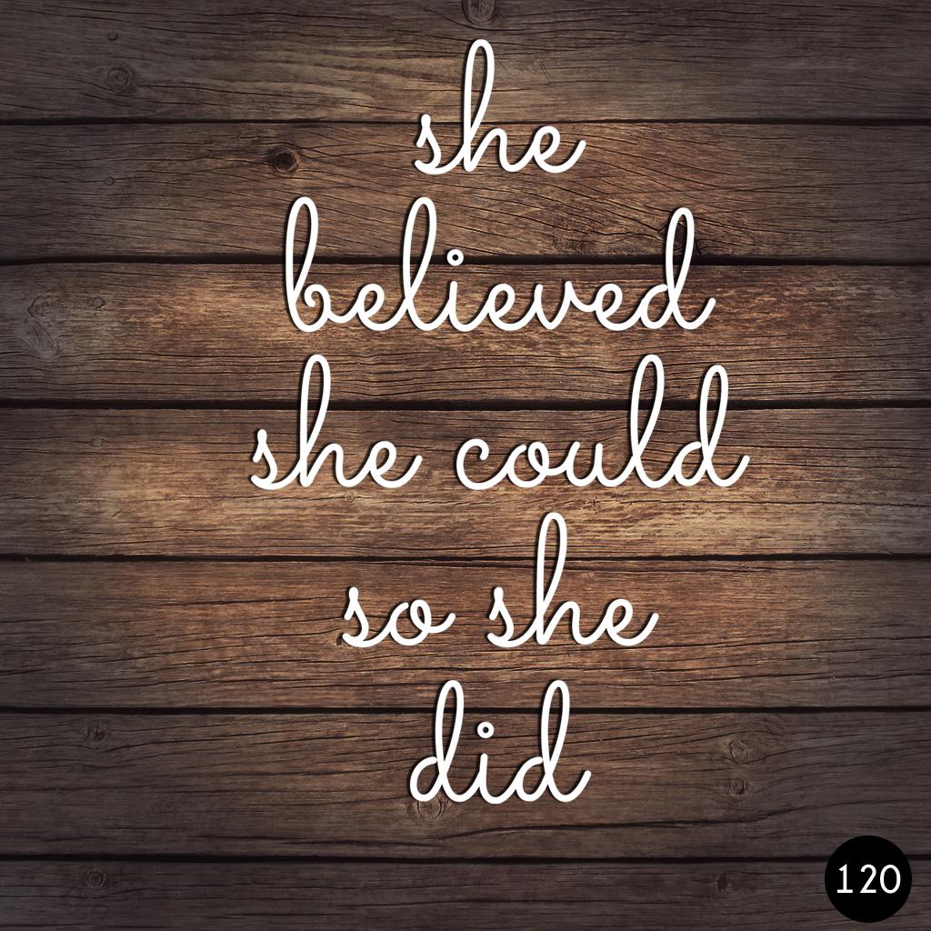 120 SHE DID